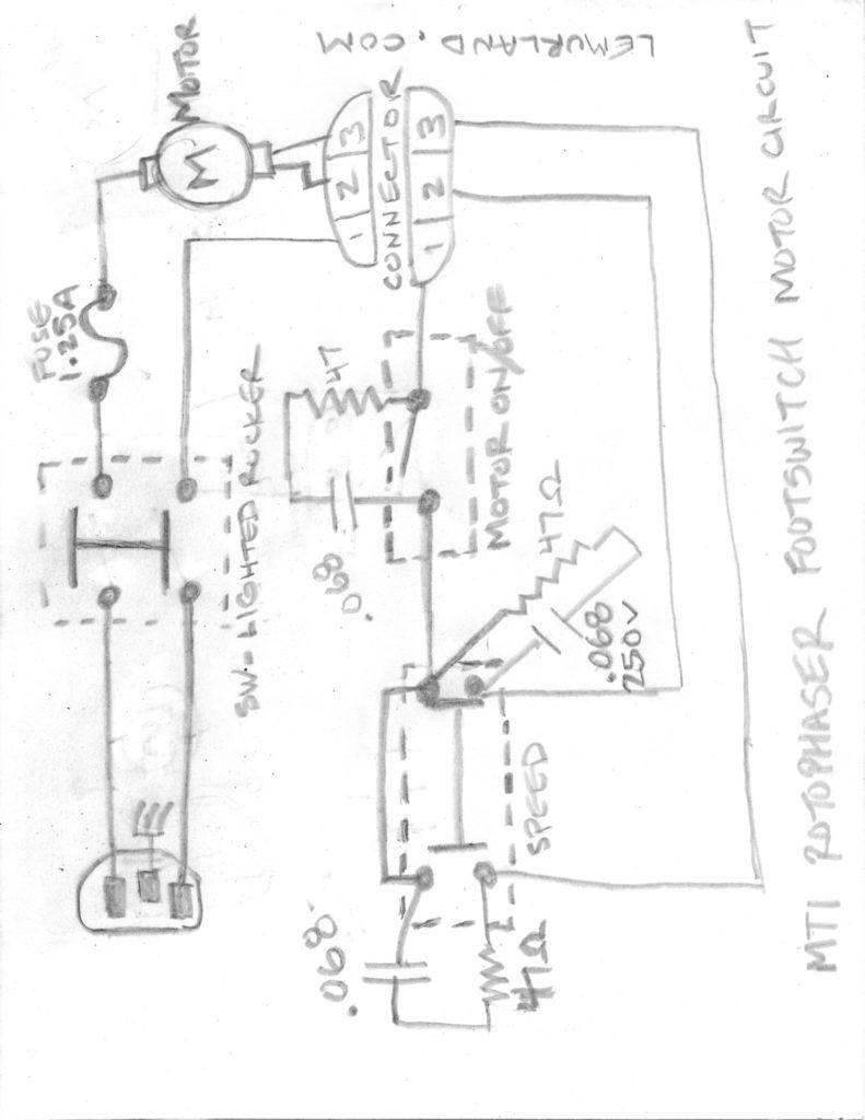 MTI Rotophaser Footswitch - Motor Ciruit